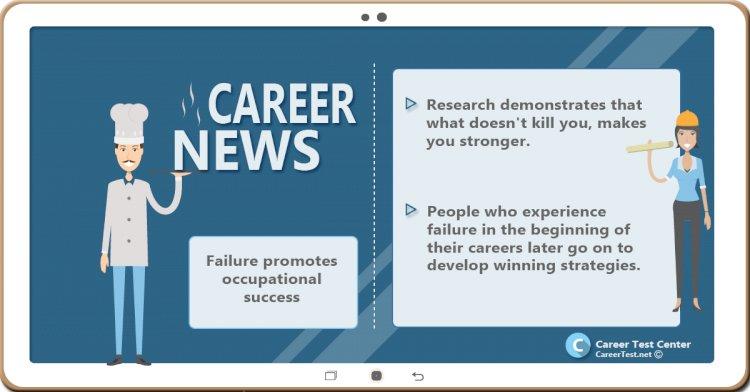 Failure promotes occupational success
