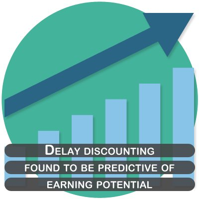 Delay discounting was found to be predictive of earning potential.