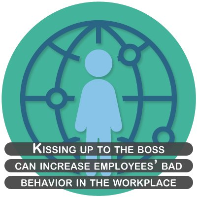 Kissing up to the boss can increase employees' bad behavior in the workplace