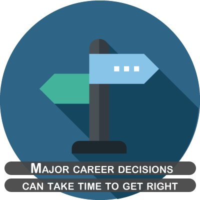Major career decisions can take time to get right